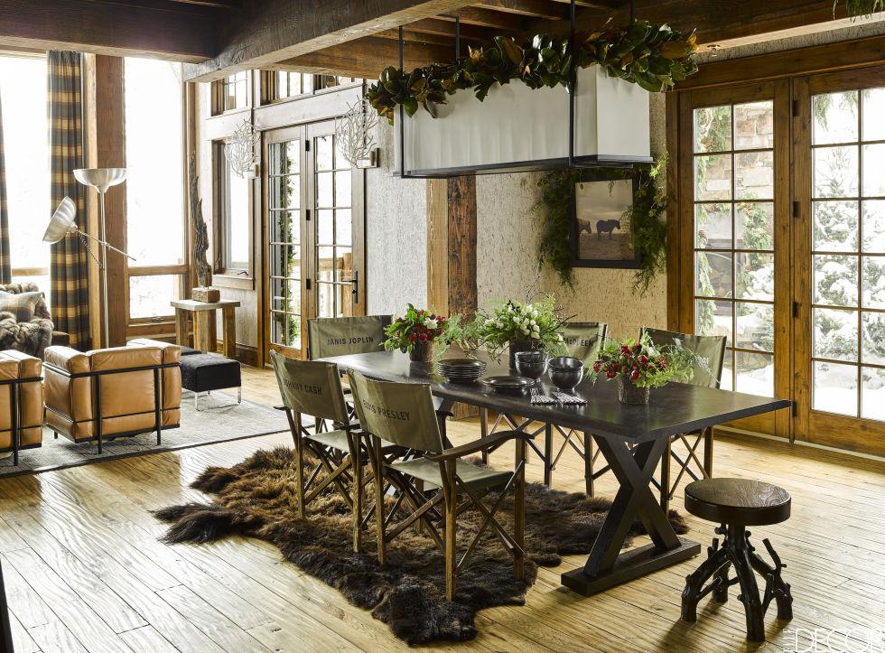 Best Rustic Christmas Decor: Ski House By Ken Fulk