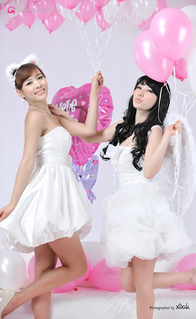 1 Kim In Ae and Mina – White Dresses - very cute asian girl-girlcute4u.blogspot.com