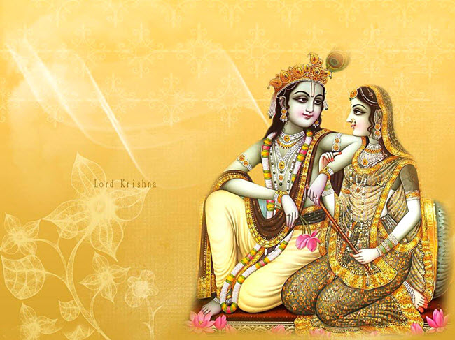 Images of Lord Krishna with Radha