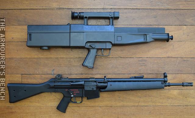 Tính năng kỹ chiến thuật cơ bản của đạn không vỏ: đường kính 4,7 mm; đường kính cơ sở 7,76 mm; chiều dài 32,83 mm; trọng lượng đạn 5 g