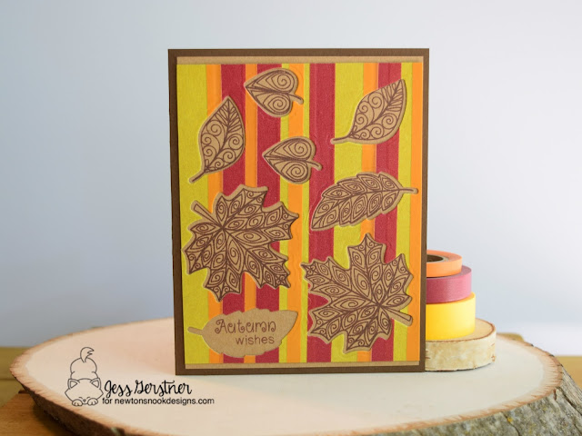 Fall Leaf Card by Jess Gerstner for Newton's Nook Designs Beautiful Leaves