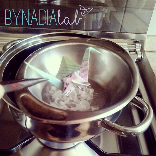 bagno di cera - origami bynadialab