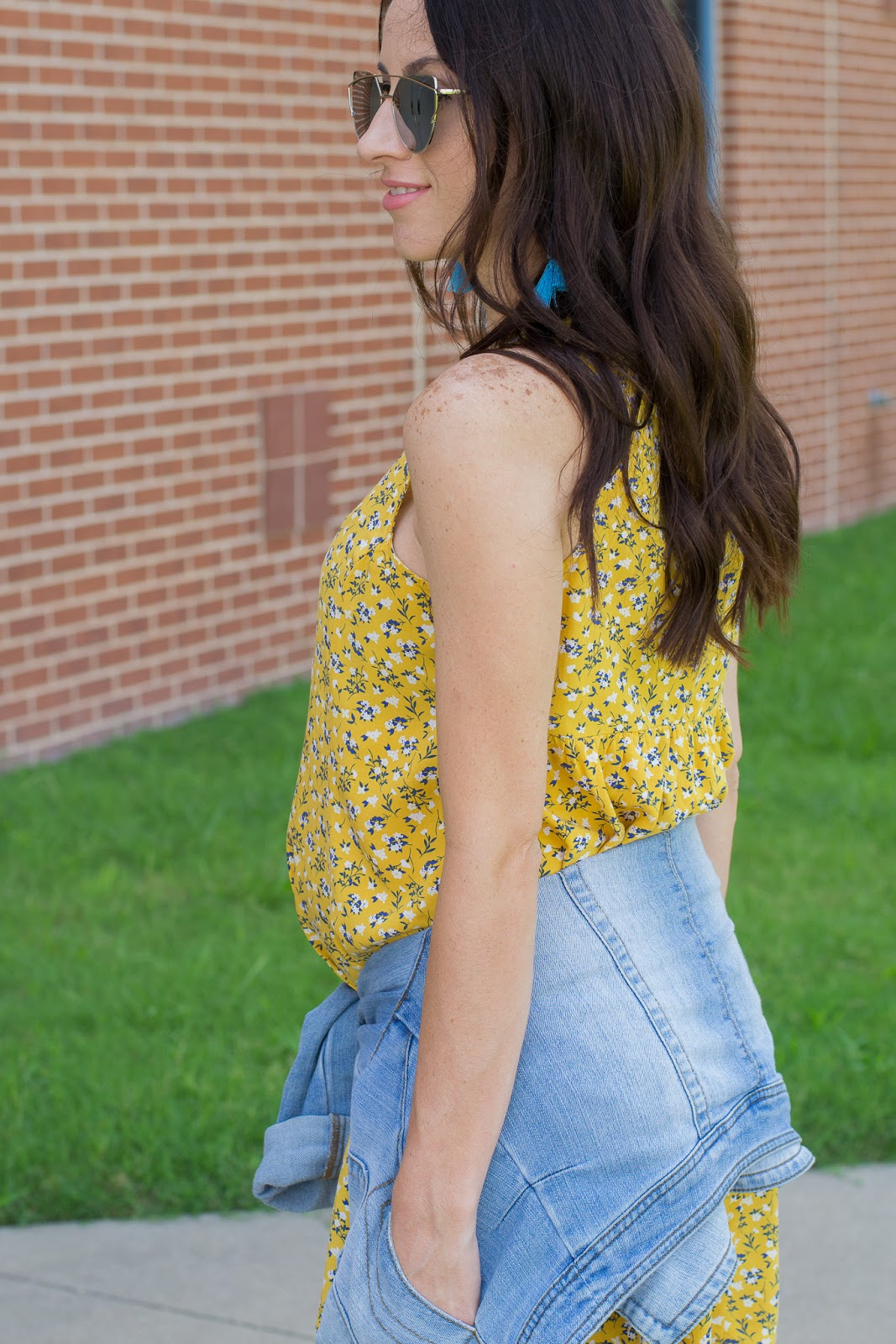 How to wear a denim jacket and summer dress