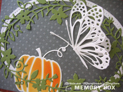 Fall butterfly card detail
