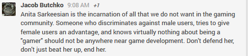Anita Sarkeesian should not just be beaten up, but she should be ended.