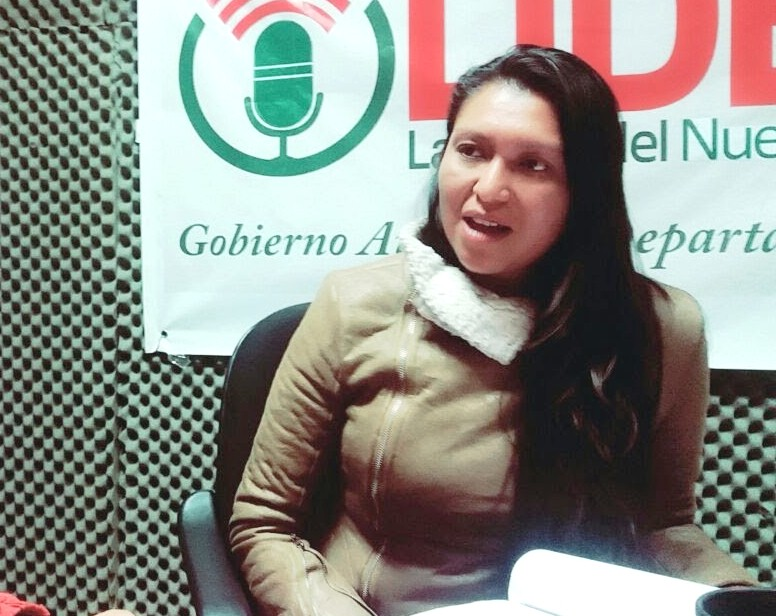 La comunicadora beniana en entrevista con Radio Líder