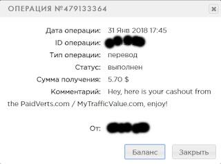 Выплаты с моих сайтов