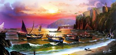 Cuadros Paisajes Con Pescadores
