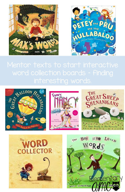 Picture books for teaching word choice or word collecting