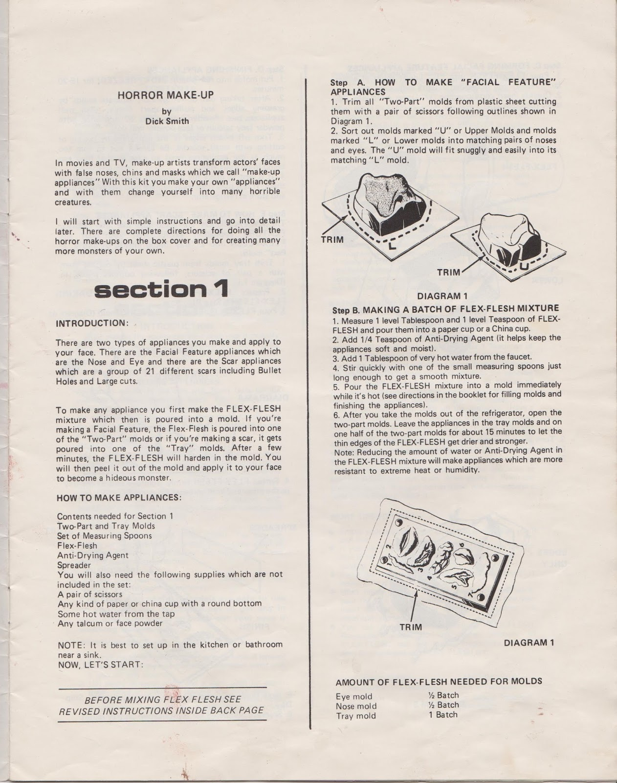 The cobwebbed room dekker horror make up kit instruction manual well here it is hope that it will be useful enough would be interesting in seeing what the make up you choose looks like solutioingenieria Image collections