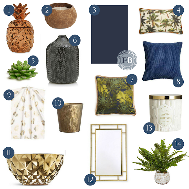 How to incorporate the latest interior design trend into your home, using just tropical accessories, decor and homewares available now on the high street, without the need for redecorating, and on a budget.