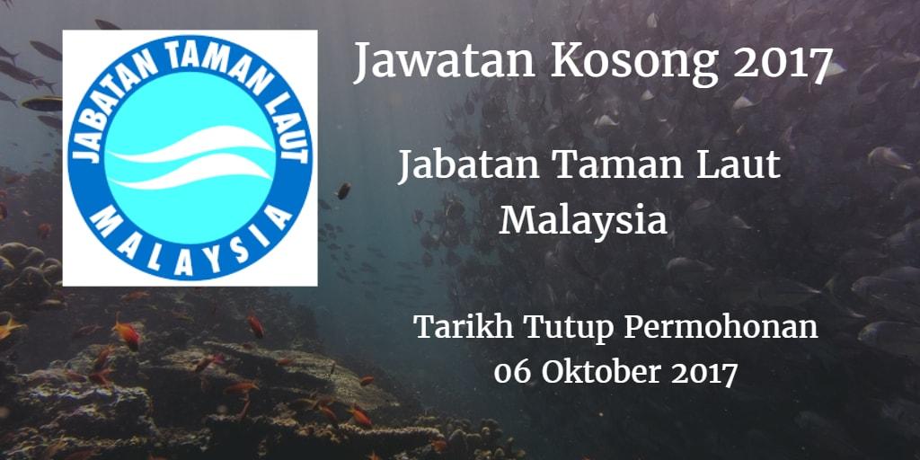 Jawatan Kosong Jabatan Taman Laut Malaysia 06 Oktober 2017