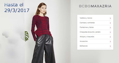 oferta de ropa para mujer marca BCBGMAXAZRIA