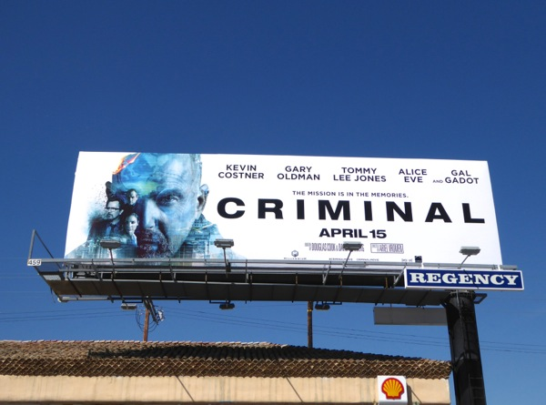 Kevin Costner Criminal movie billboard