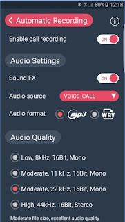 CallX Automatic Call Recorder APK audio setting