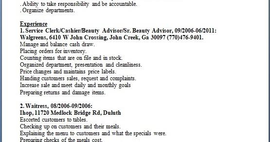 beauty advisor resume format in word free download