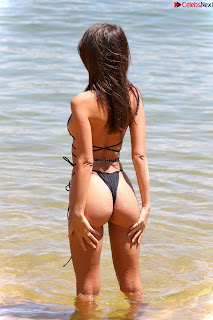 Emily Ratajkowski in Black Thong Bikini Beautiful    celebrity.co Exclusive 06
