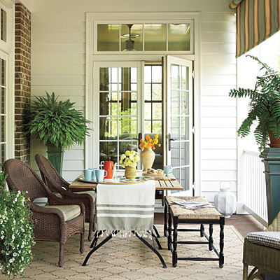 New Home Interior Design: Breezy Porches and Patios
