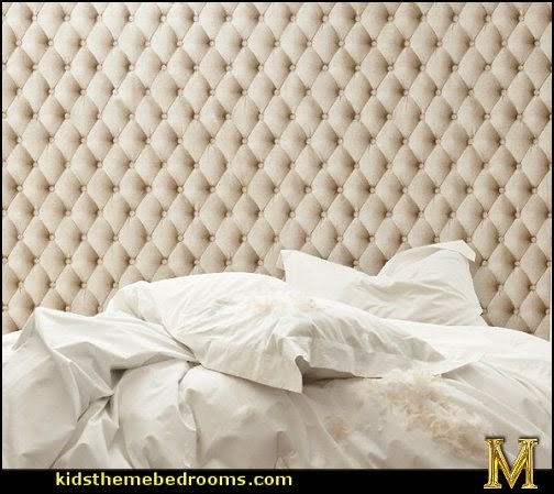 Decorating theme bedrooms maries manor hollywood glam for Padded wall wallpaper