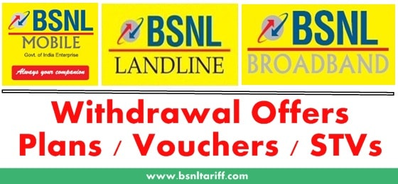BSNL Prepaid Recharge Tariff Plans and BSNL Mobile Internet plans Jai Jawan 113, Micromax 97 Bharat Phone 1 and Roaming Tariff plan 199 withdrawn