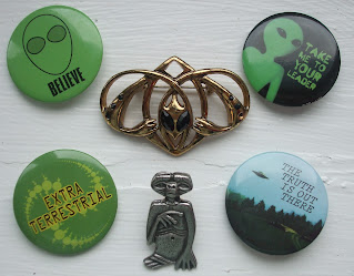 alien badges and brooches