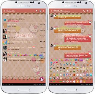 Download BBM Mod Tema Hello Kitty V2.11.0.18 Apk