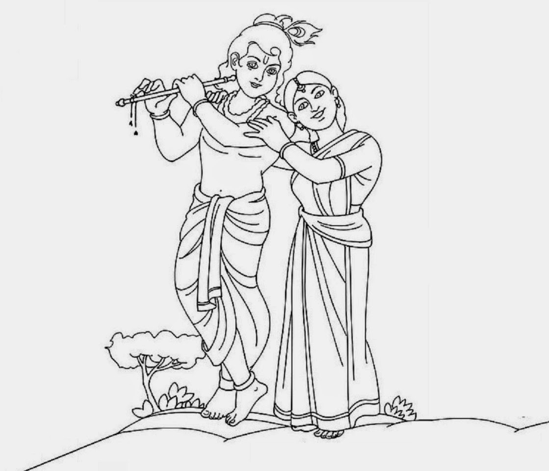 colour drawing free wallpaper lord radha krishna coloring
