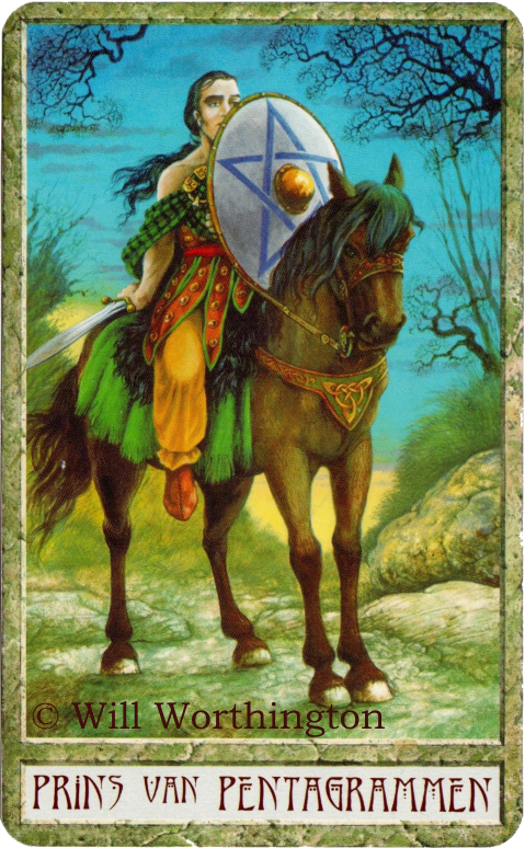 Druidcraft Tarot The Prince of Pentacles Will Worthington