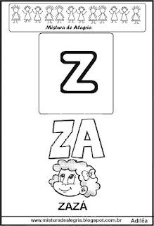 Cartaz das famílias silábicas do Z