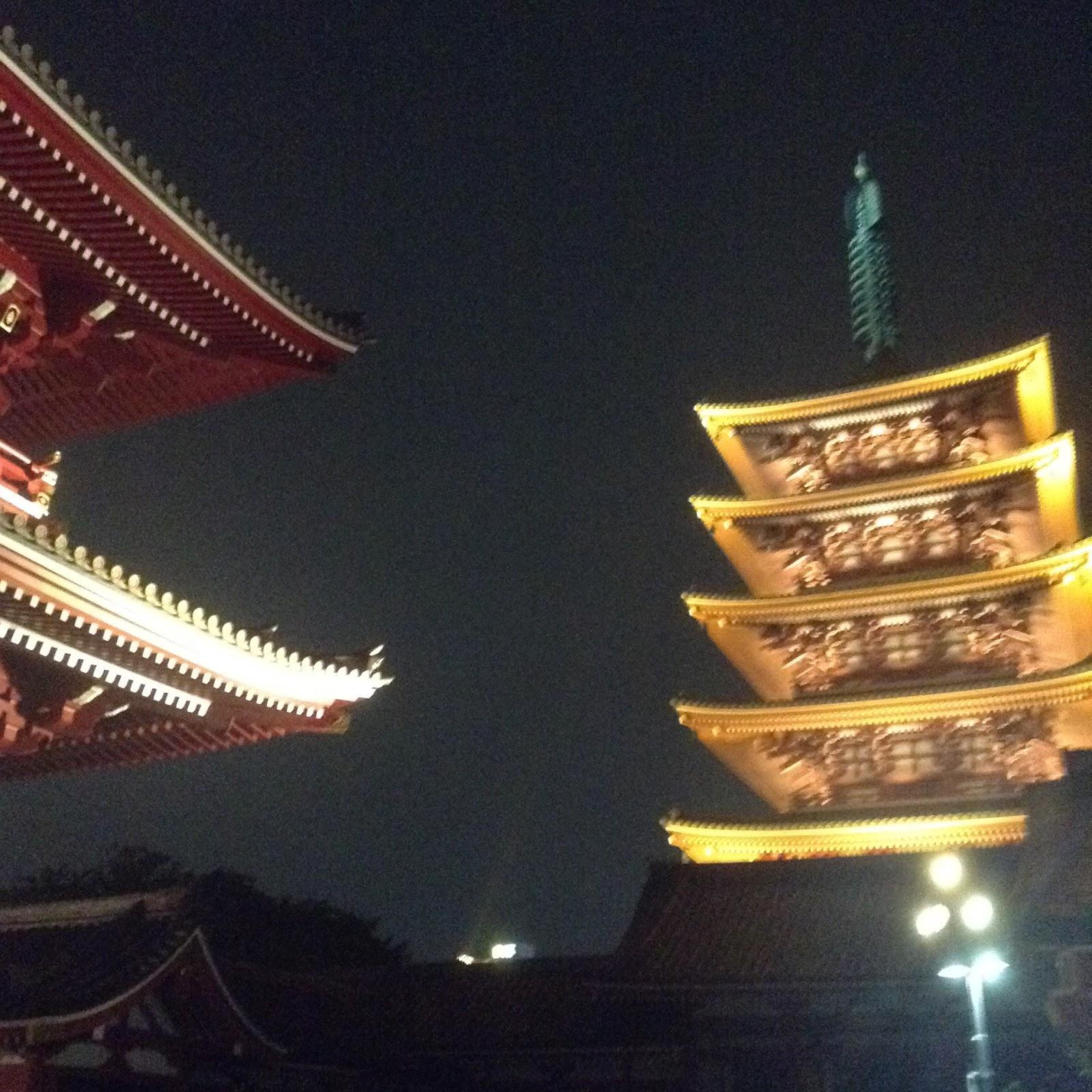 Sensouji temple pagoda Tokyo