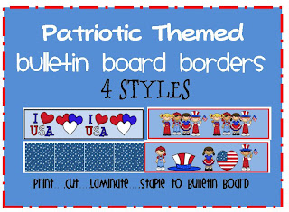 patriotic themed bulletin board border