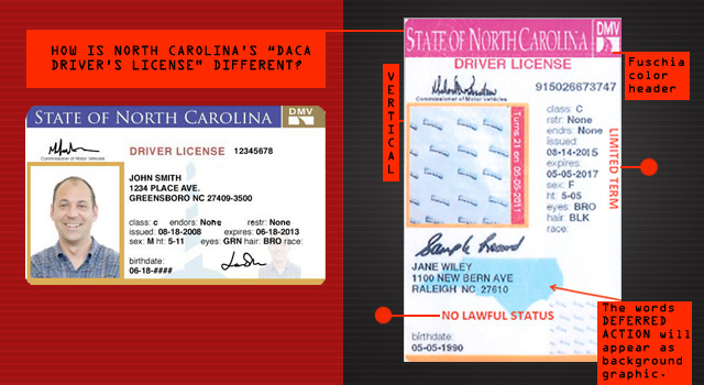 2013 2013 Drivers License North Carolina North Carolina License Drivers