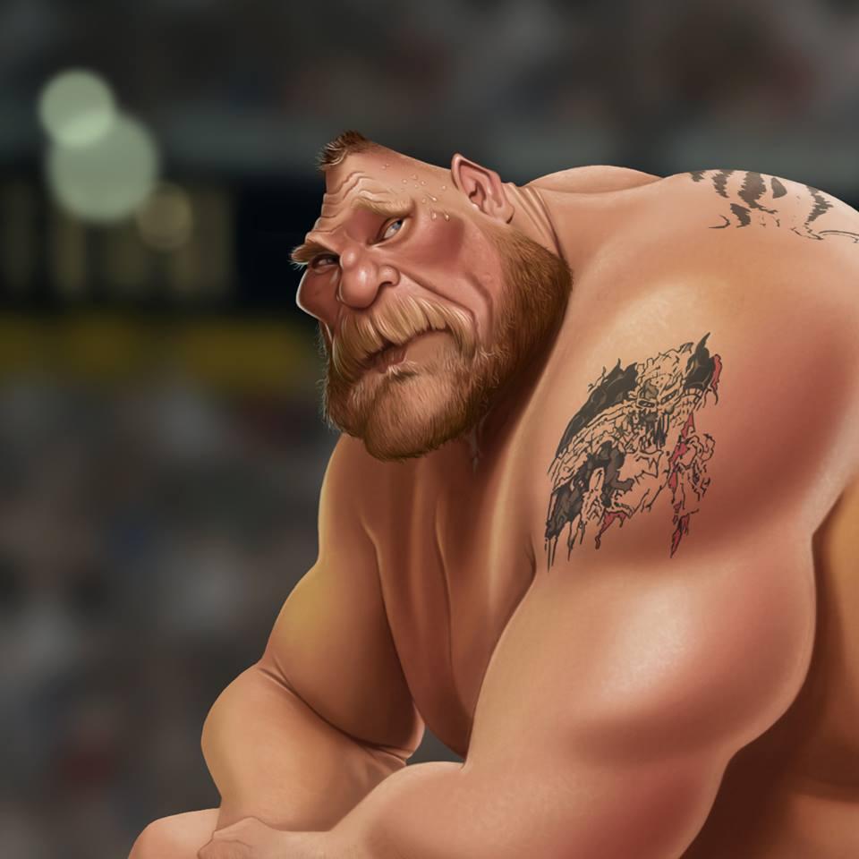 Brock Lesnar por Fernando Buigues