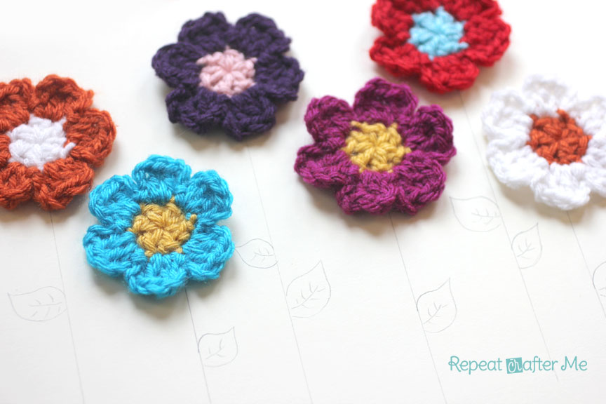 Simple Spring Crocheted Flowers Repeat Crafter Me