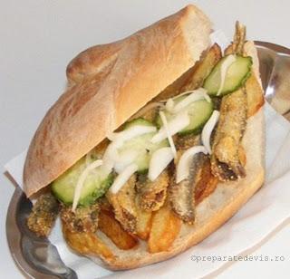 Sandwich cu peste si cartofi retete culinare,