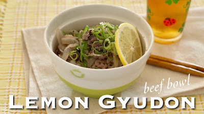 Summer Lemon GYUDON (Beef Rice Bowl Recipe)