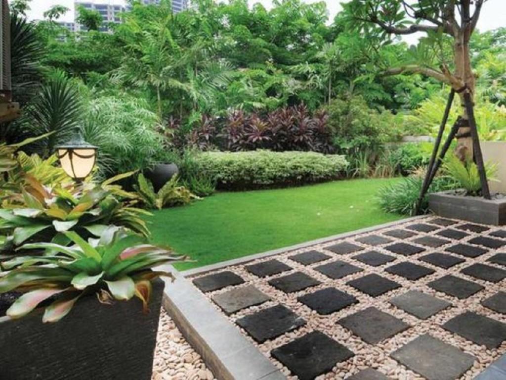 Taman Hijau Depan Rumah Minimalis Destaman