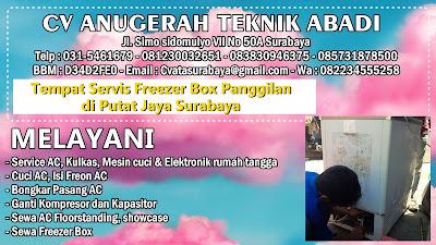 Tempat Servis Freezer Box Panggilan di Putat Jaya Surabaya