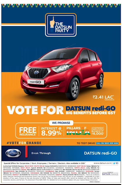 Nissan Datsun Redi-Go never before offers | June 2017 discounts & offers