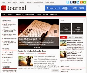 Journal - Responsive 3 Column Blogger Template