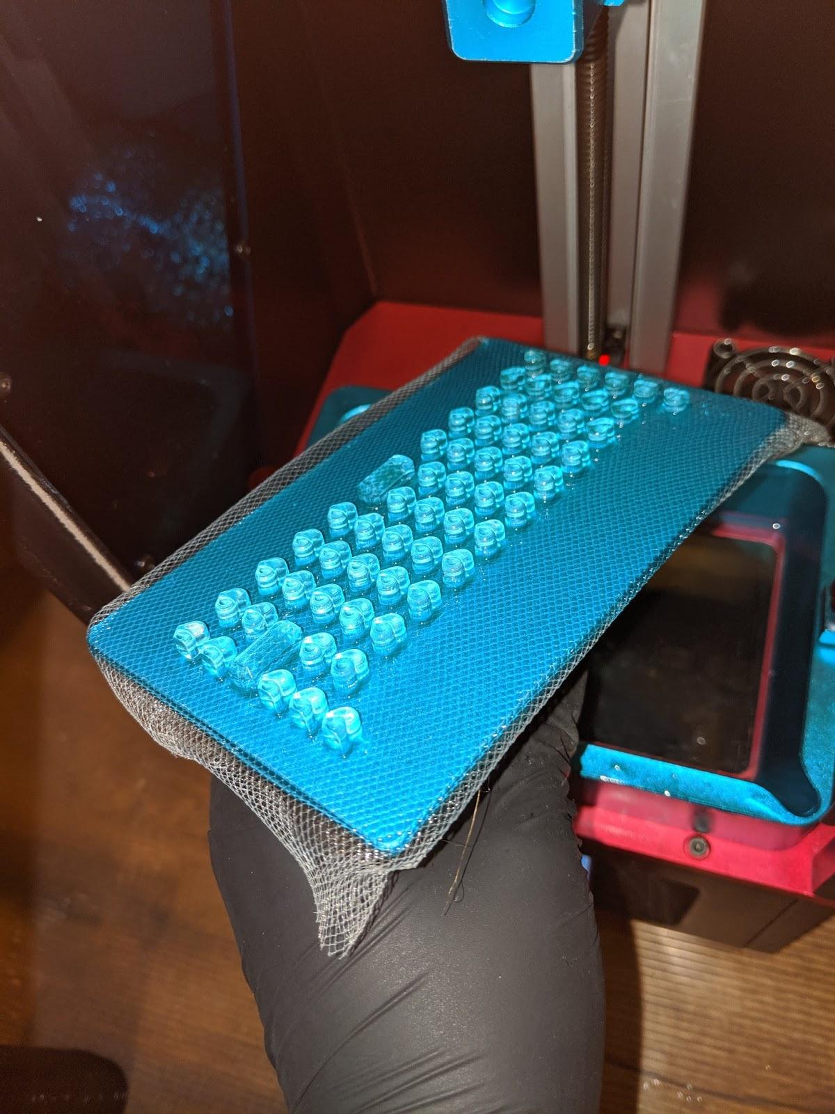 cloth-mounted membrane keyboard