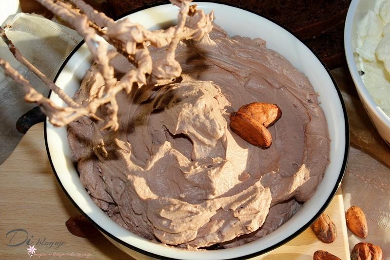 Kakaowy krem z serka mascarpone i kremówki (bez żelatyny)