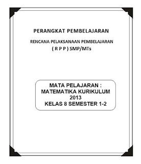 RPP Matematika SMP MTs Kelas 8 Kurikulum 2013 Revisi Terbaru