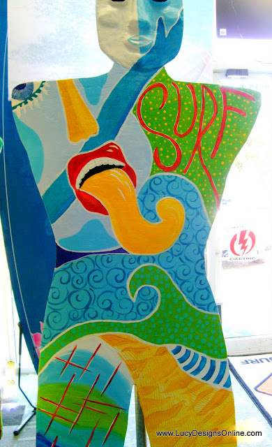 hand painted colorful mosaic mannequin