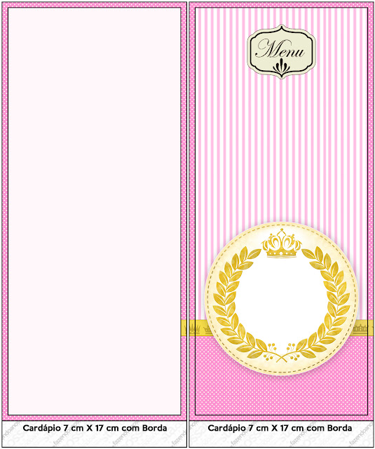 Golden Crown in Pink Free Party Printables.