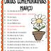 DATAS COMEMORATIVAS DE MARÇO