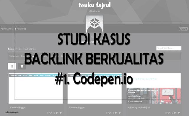 Backlink Berkualitas Dari Codepen.io