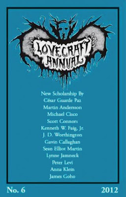 Lovecraft Annual no. 6, 2012, copertina