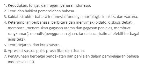 Materi Tematik OGN SD 2019 Bahasa Indonesia, http://www.librarypendidikan.com/