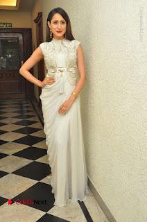 Actress Pragya Jaiswal Stills in Beautiful White Dress at turodu Audio Launch  0054.JPG